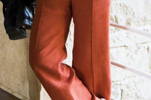 Pantalon Sublime - Lin Orange - C.BERGAMIA